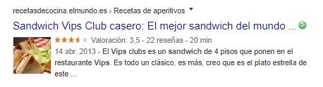 Rich Sandwich Snippet