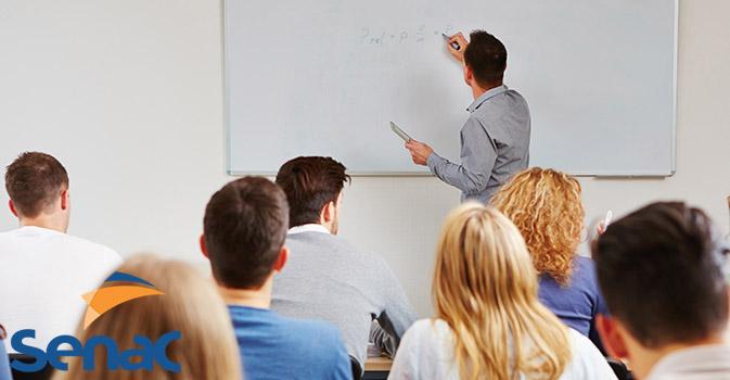 Marketing professor teaching