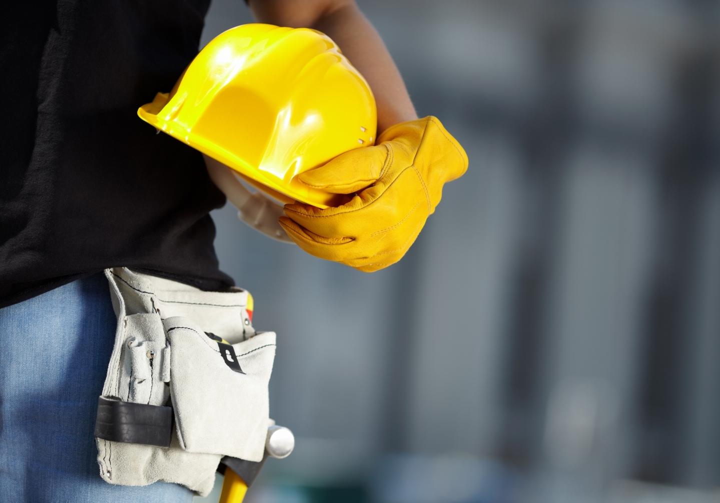 Helmet and work tools